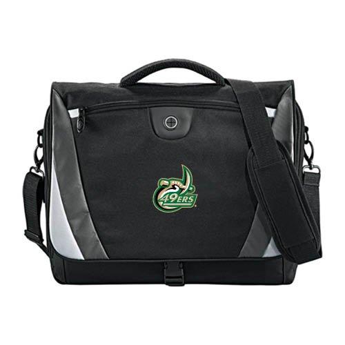 Charlotte Slope Black/Grey Compu Messenger Bag '49ers Official Logo' by CollegeFanGear