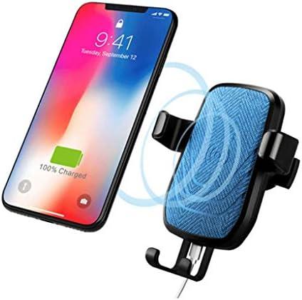 車の無線充満携帯電話のホールダー、車の空気出口の無線充満携帯電話のホールダー (色 : 青)