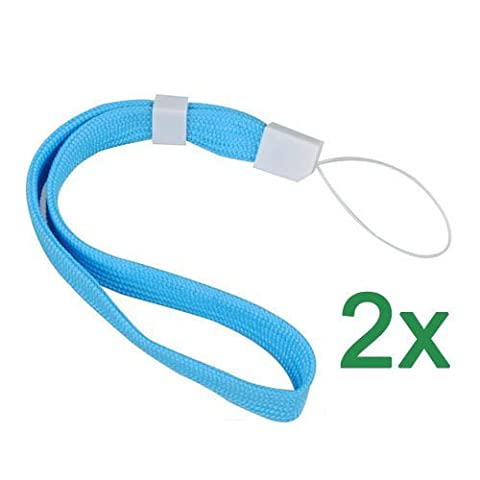 TOOGOO(R) 2X Blue Lanyard Hand Wrist Strap With Slide For Camera Phone DS PSP MP3 MP4 (Wrist Strap Ds)