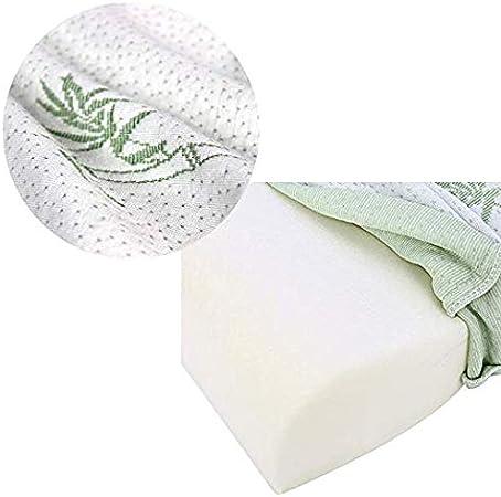 morbido comodo e lavabile Cuscino cervicale in schiuma memory e bamb/ù anti-russamento bianco