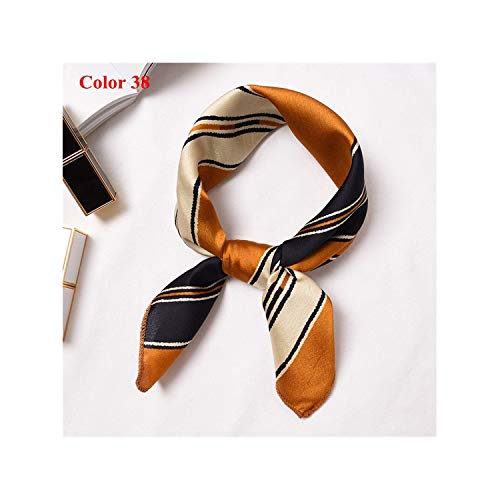 5050cm Summer Beach Clothes Accessories Women Vintage Silk Scarf High Square Neckerchief,Color 38