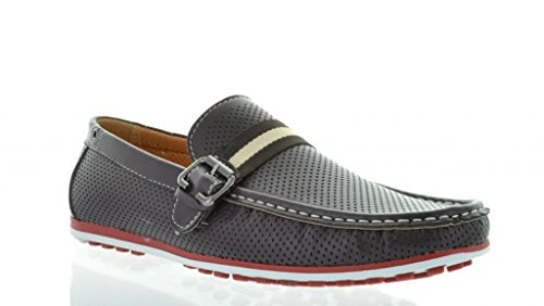 Bruno HOMME MARJOO MODA ITALY Men's Fashion Driving Casual Loafers Boat shoes Brown Size - 12 Mens Loafers Brown