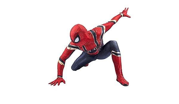 Amazon.com: Iron Spiderman Cosplay Costume Siamese Tights ...