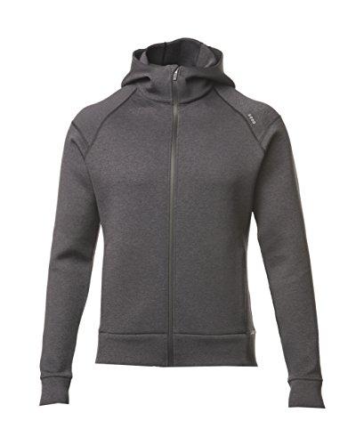 - SODO Men's 425 Full Zip Hoodie Tech Fleece-Charcoal-XX Large