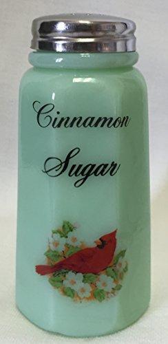Sugar Shaker - Cardinal Red Bird - Paneled - Mosser Glass - American Made (Cinnamon Sugar, ()