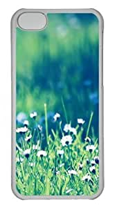 TYHH - Daisies field Custom iPhone 5/5s Case Cover Polycarbonate Transparent ending phone case