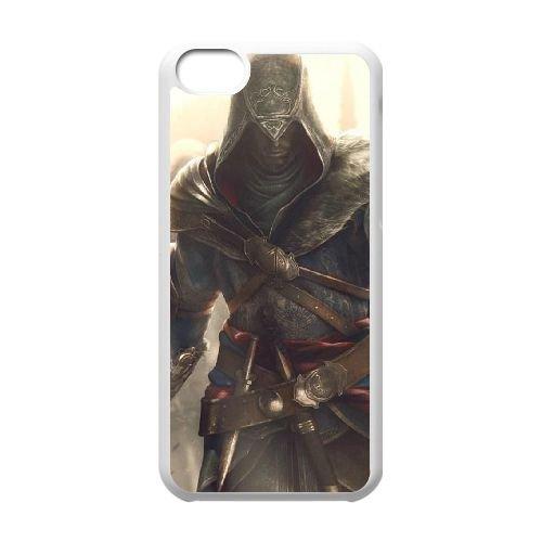 Ezio Auditore Da Firenze 017 coque iPhone 5C Housse Blanc téléphone portable couverture de cas coque EOKXLLNCD15487