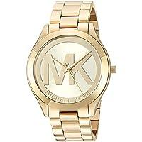 Michael Kors Slim Runway Gold Dial Women's Watch