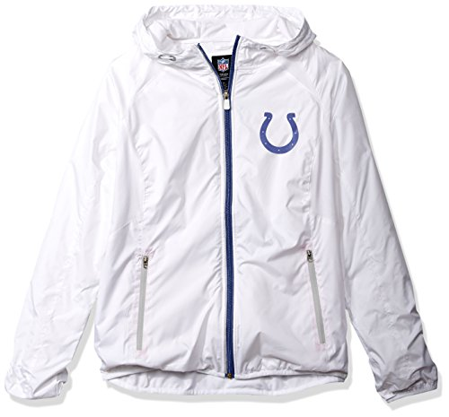 NFL Indianapolis Colts Women's Spring Training Light Weight Full Zip Jacket, Large, White