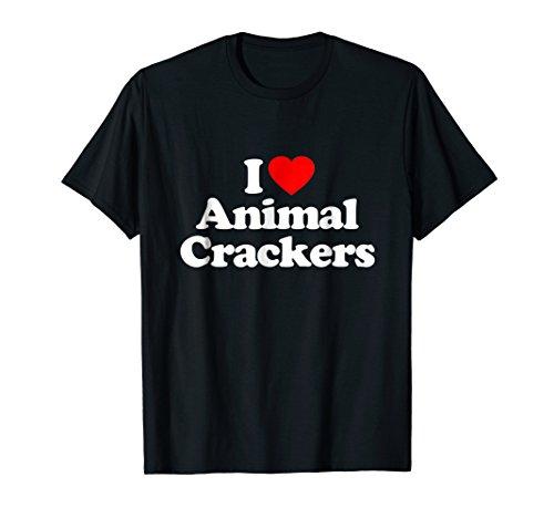 Mens I Love Animal Crackers Heart Funny T-Shirt XL ()