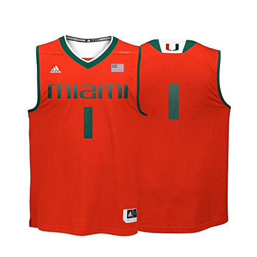 NCAA Miami Hurricanes Men's Replica Jersey, XX-Large, -