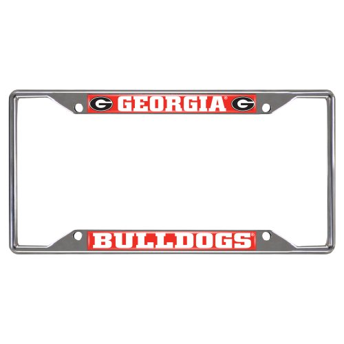 FANMATS NCAA University of Georgia Bulldogs Chrome License Plate Frame