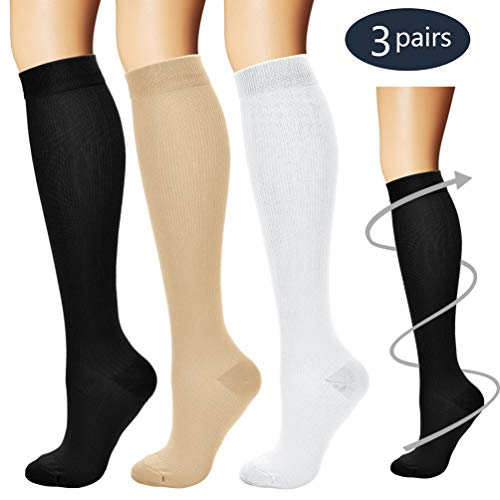 - Laite Hebe Compression Socks,(3 Pairs) Compression Sock for Women & Men - Best for Running, Athletic Sports, Crossfit, Flight Travel