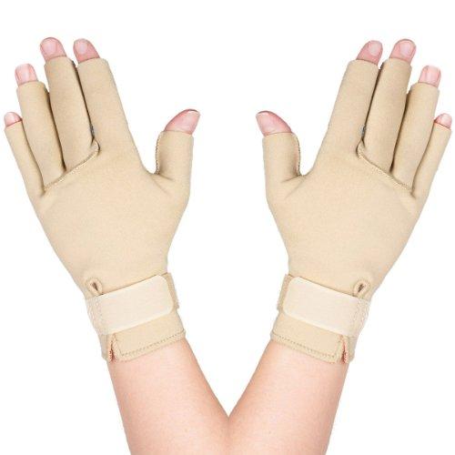 (Thermoskin Arthritis Gloves, Beige, Medium)
