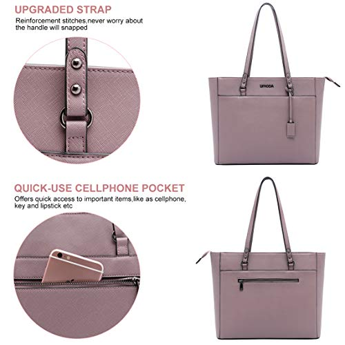 Laptop Tote Bag for Woman,13-15.6 Inch Laptop Briefcase Stand Up on its Own with Padded Compartment [Purple] Photo #3