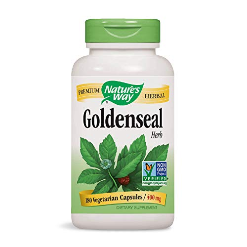 - Nature's Way Premium Herbal Goldenseal Herb 400 mg, 180 Vcaps (Packaging May Vary)