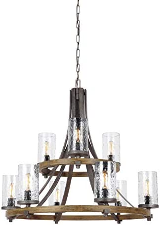 BAYCHEER HL421945 Industrial Vintage Retro LOFT style Small hob Cage Multi Light Pendant Lamp Fixture 3 Light Pendant Light