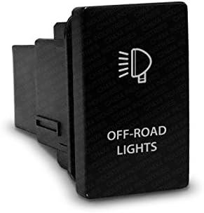 CH4X4 Push Switch for Toyota FJ Cruiser White LED Off-Road Lights Symbol