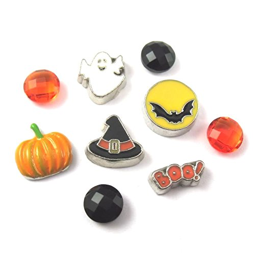Origami Owl Halloween Locket (FCL Designs - Halloween Theme Floating Charms Combination for)