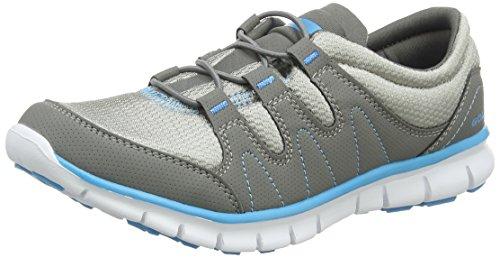 Gola Solar, Zapatillas Deportivas para Interior para Mujer Gris (Grey/Blue)