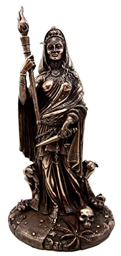 Atlantic Collectibles Greek Goddess of Magic Witchcraft & Necromancy Hekate Hecate with She-Dogs Decorative Figurine 10.75