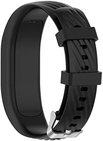 Disscool Replacement Wrist Bands for Garmin Vivofit 4 Soft Silicone Wrist Band Strap for Garmin Vivofit 4(Silicone Black) / Disscool Replacement Wrist Bands for Garmin Vivofit 4 Soft Silicone Wrist Band Strap for Garmin Vivofit 4(S...