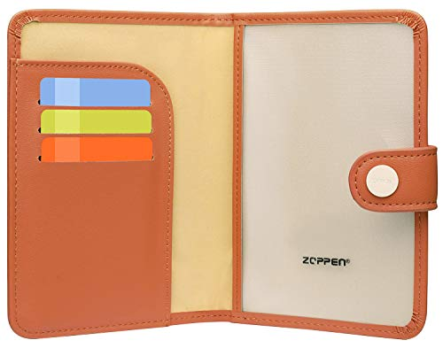 Zoppen Rfid Blocking Travel Passport Holder Cover Slim Id Card Case (#27 Bright Orange)