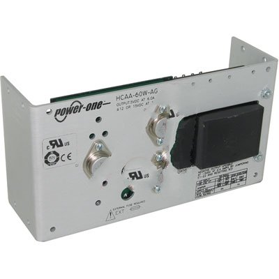 Bel Power Solutions HCAA-60W-AG, Power Supply; AC-DC; 5V@6A, 12V@1A, -5V@0.4A; 100-264V In; Open Frame; Panel Mnt; Linear