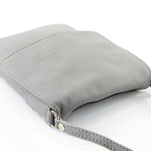Made Italy - Bolso cruzados para mujer gris - gris