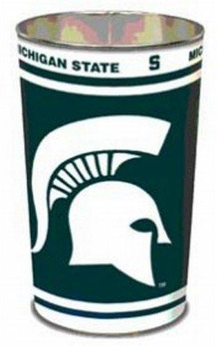 NCAA 8119210 Michigan State University Tapered Wastebasket, (Michigan Wastebasket)