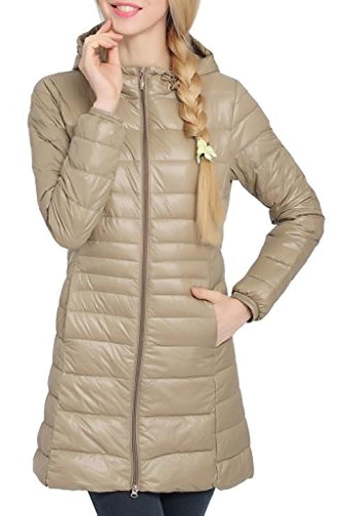 Imbottito Stile Leggero Piumino Donna Invernale Cappuccio Con Cappotto Da Tv0wSqx