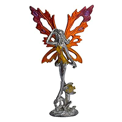 "Pixie Glare Pewter Fairy Figurine Collectible Statue. Ocean Fairy 4.5"" (H)"