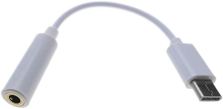 BeMatik Cable adaptador auriculares USB C macho a minijack 3.5mm hembra 12cm