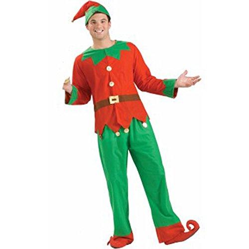 Forum Novelties Men's Simply Elf Costume, Green/Red, X-Large ()