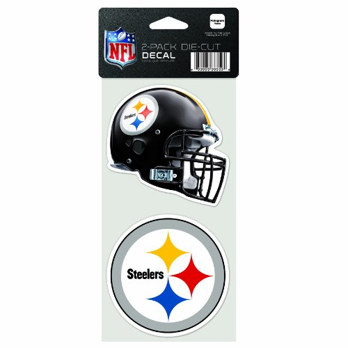 NFL Pittsburgh Steelers 2-Piece Die-Cut Decal, 4