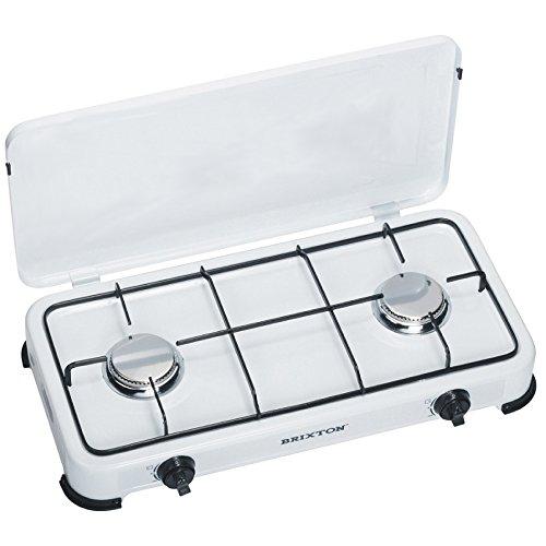 Gaskocher 2-flammig (50 mbar) schwarze Emaille-Brenner, ideal fü r die Campingkü che oder Outdoorkü che
