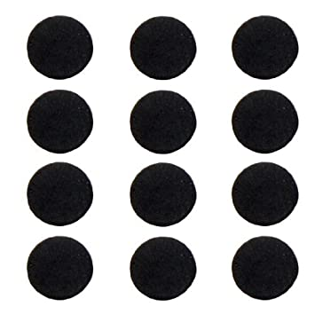SODIAL(R) 12 x Almohadilla para Pie de Ordenador Portatil, Espuma Antideslizante Redondo Negro: Amazon.es: Electrónica