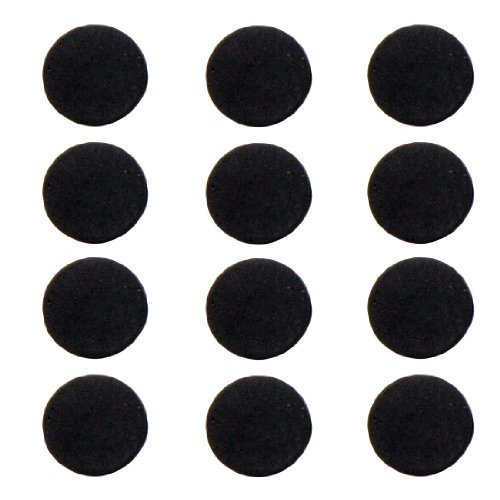 TOOGOO(R) 12 Pcs Round Black Foam Nonslip Legs Pad for Laptop Notebook