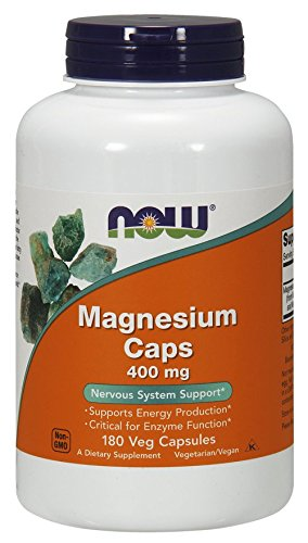NOW Magnesium 400mg,180  (Aspartate 180 Capsules)