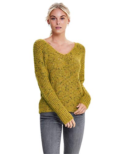 s w Pull Multi L Naps Only Yellow Golden Pullover Onlhanni neck Femme V qwBWTx1EO