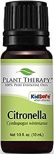 Plant Therapy Citronella Essential Oil. 100% Pure, Undiluted, Therapeutic Grade. 10 ml (1/3 oz).