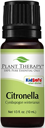 Plant Therapy Citronella Essential Oil. 100% Pure, Undiluted, Therapeutic Grade. 10 ml (1/3 oz).