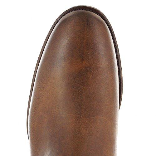 Fb Fashion Boots Sendra Boots 14968 Evolution Tang Stivali In Pelle Da Uomo Brown Evolution Tang