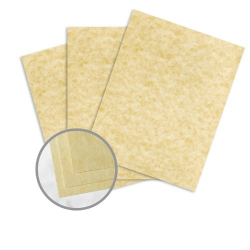 Astroparche Ancient Gold Paper - 8 1/2 x 11 in 60 lb Text Vellum 30% Recycled 500 per Ream by Wausau Paper Astroparche