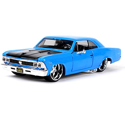 (LUCKYCAR 1966 Chevrolet SS 396 Simulation Alloy Modified car Model,The Hood and Left and Right Doors can be Opened,Finished Product Model,Car Collection, Static Model,)