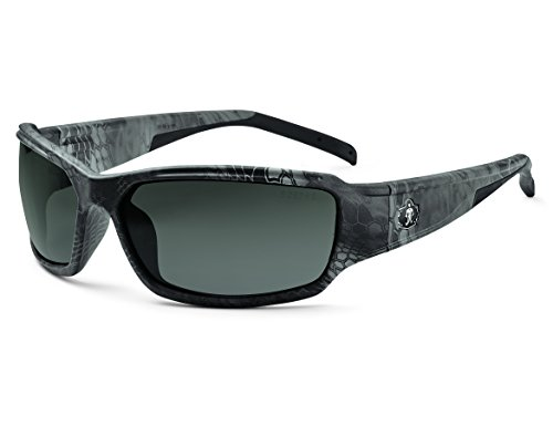 Skullerz Thor Polarized Safety Sunglasses - Kryptek Typhon Black Camo Frame, Polarized Smoke - Nemesis Sunglasses Polarized