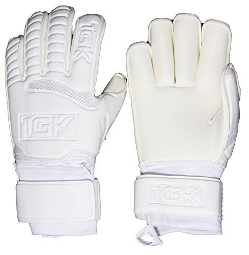 1GK Branco Fingersave Goalkeeper Glove - Customizable and Removeable Professional Fingersave Protection (Sizes 6-11) Roll Cut Design for Youth and Adult Soccer Goalkeepers (Roll Cut, 10)