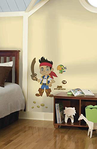 RoomMates RMK1793GM Disney Jake and The Neverland Pirates Peel and Stick Giant Wall Decal -