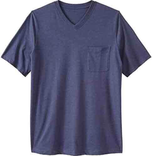 0c4a828e6117 KingSize Men's Big & Tall Shrink-Less Lightweight Longer-Length V-Neck T