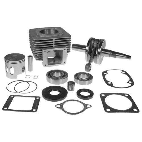 Nivel Engine Rebuild kit. Includes Cylinder & Piston Assembly, crankshaft, Bearings, Seals and gaskets. for Yamaha Gas 1978-81 Also 1983-89 G1. Lower 48 US States ONLY!